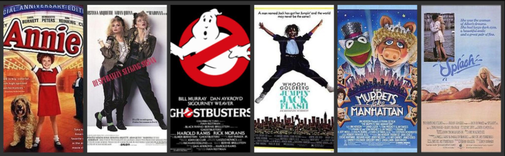 Série d'affiches de comédies tournées à New York