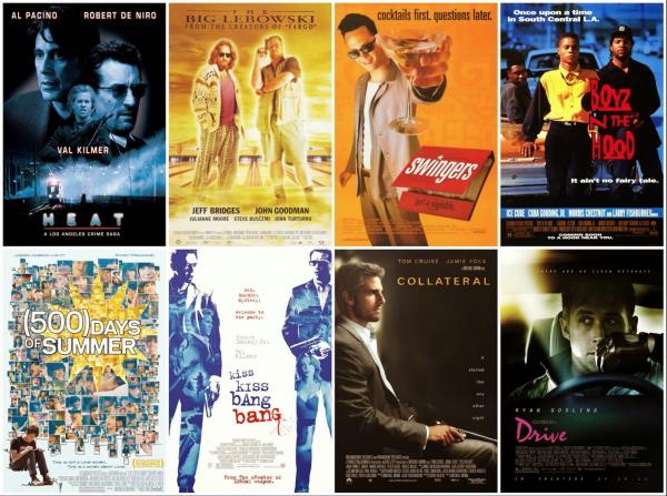 Série d'affiches de films tournées à Los Angeles