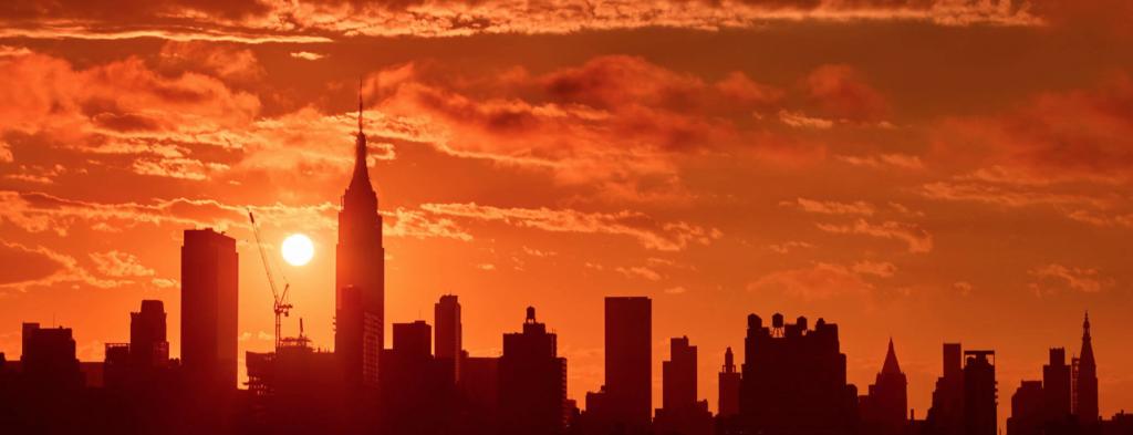 Coucher de soleil sur New York