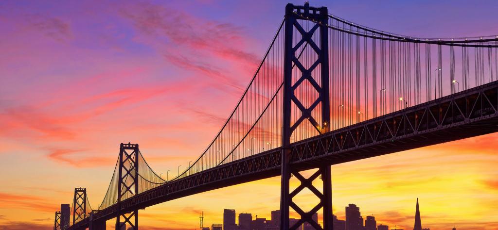 Vue sur le Golden Gate Bridge à San Francisco