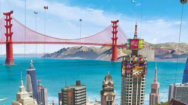 Image du film Les Nouveaux Héros, montrant une version alternative de San Francisco.