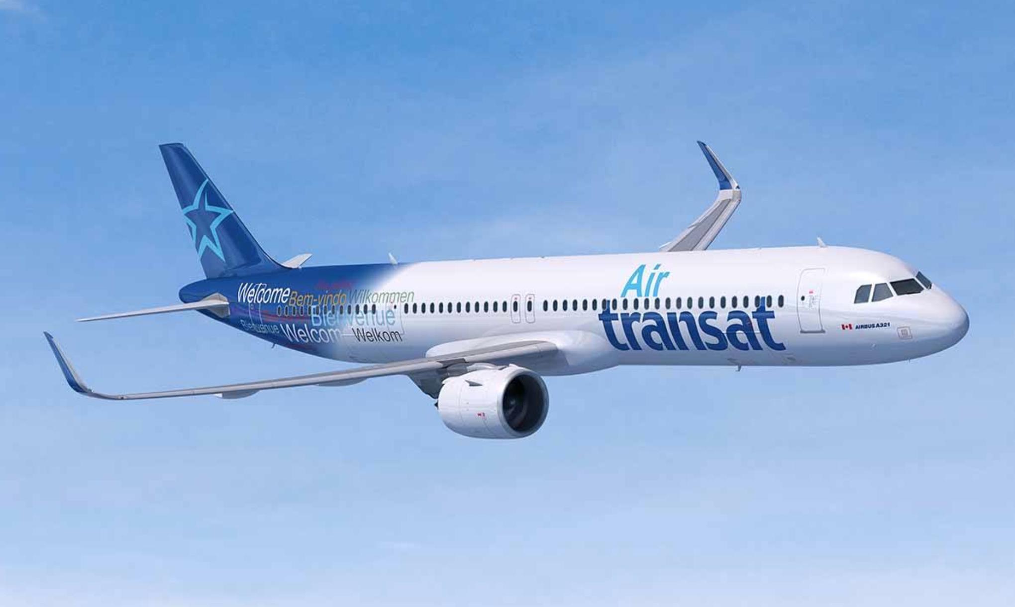 Avion d'Air Transat, compagnie canadienne économique.