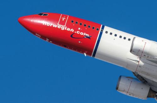 Vu d'un avion de la compagnie low-cost Norwegian